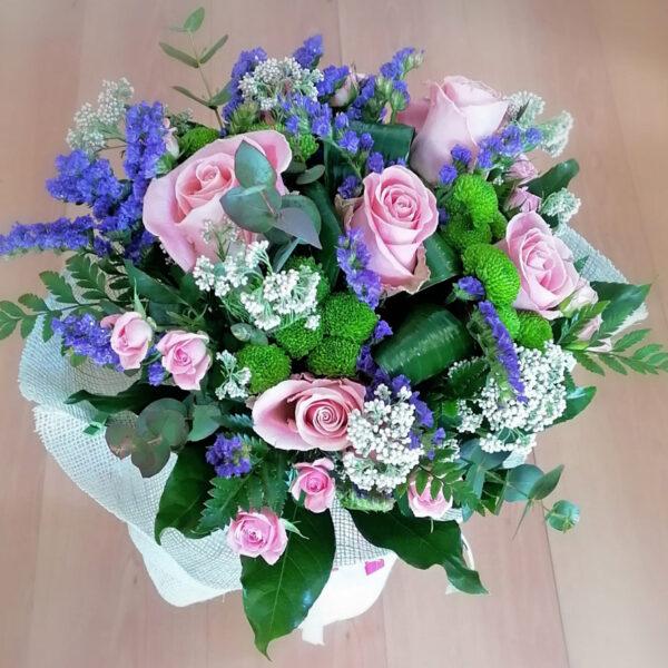 Bouquet Di Rose Rosa Per Nascite